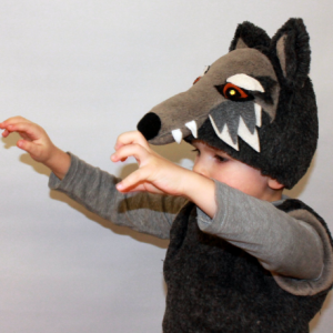 realistic wolf costume
