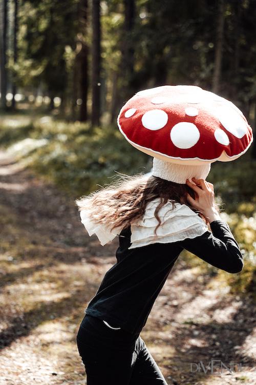 red mushroom costume