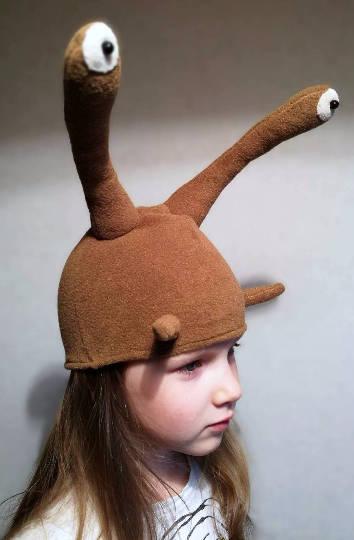 snail hat costume