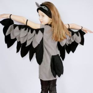 crow costume for kids
