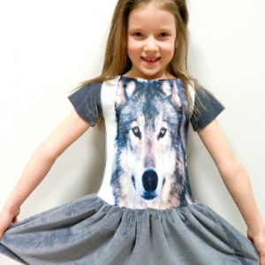 wolf dress for girls