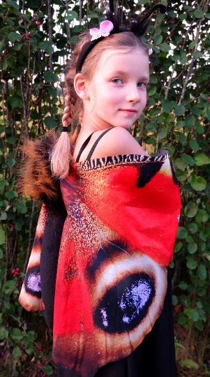 red butterfly costume