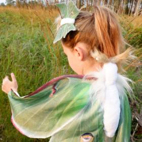 luna moth costume for kids