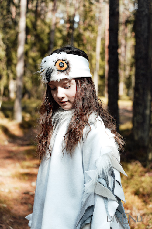 white bird costume