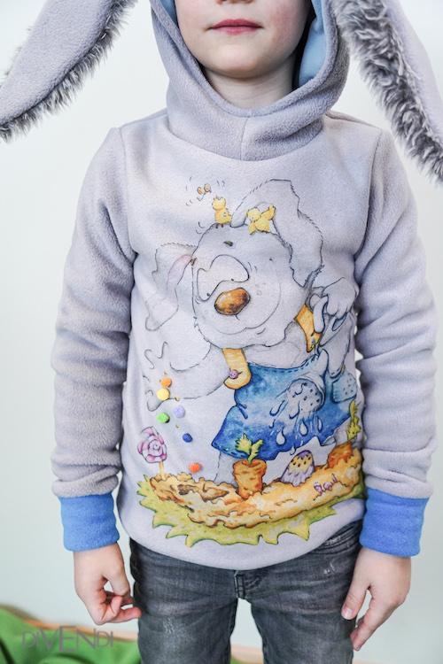 rabbit hoodie for kids