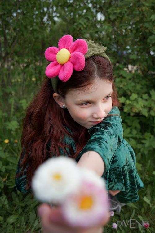 pink flower costume